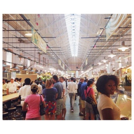 The fresh meats, cheeses and food vendors of Eastern Market, Washington, D.C.