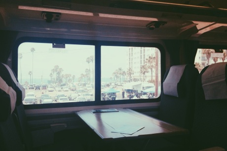 View of Oceanside, CA from Amtrak Pacific Surfliner.