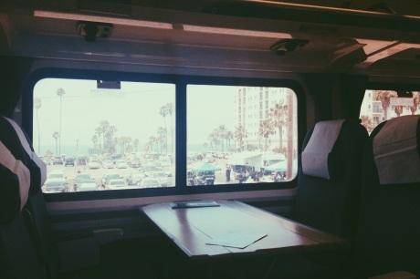 View of Oceanside, CA from Amtrak Pacific Surfliner.