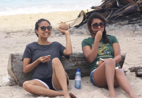 Cyndi and I in the San Blas islands.