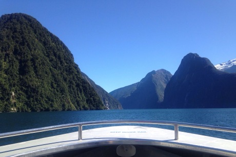 Cruising Milford Sound in March.