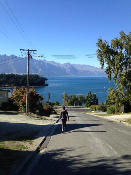 Heading back into town after hiking up to Skyline in Queenstown.