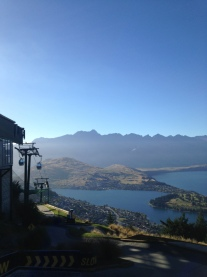 Picturesque views atop the Skyline, Queenstown.