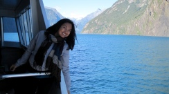 Cruising around Milford Sound.