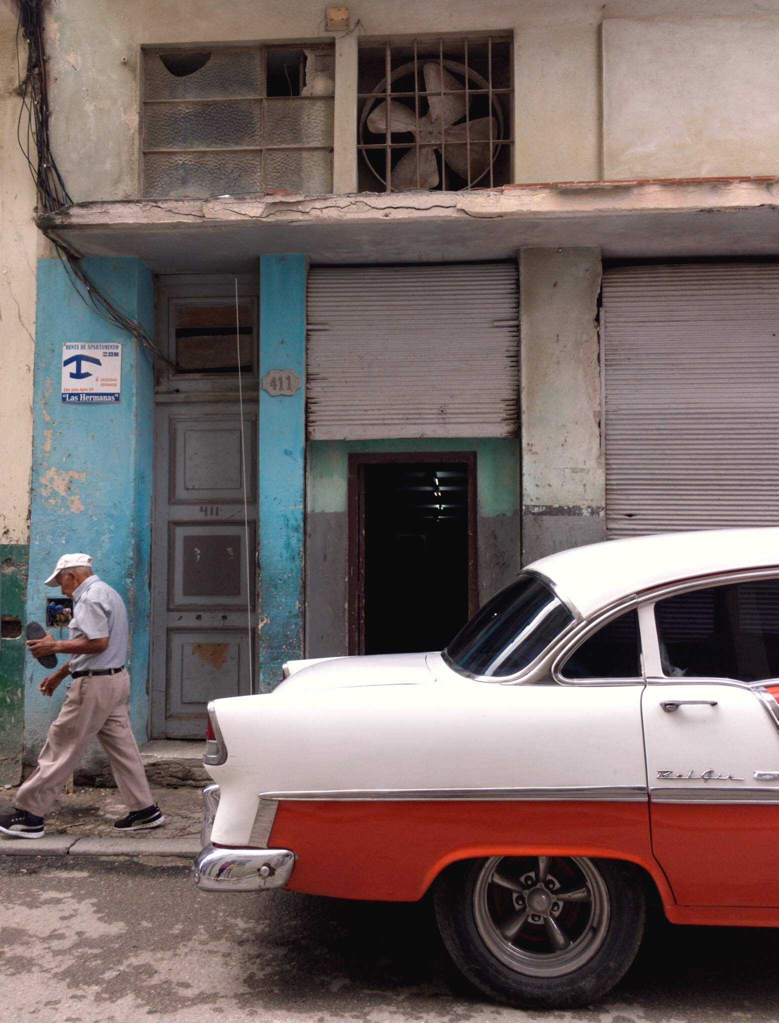 A classic car in Havana, Cuba