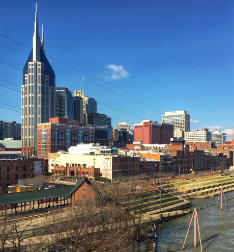 Downtown Nashville skyline.